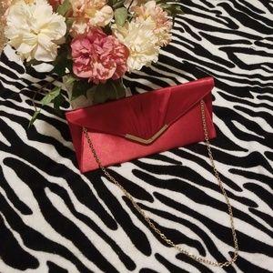 Handbags - Elegant Red Silk clutch